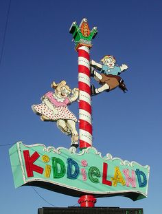 Kiddieland, Melrose Park Illinois. Seen this sign many times.