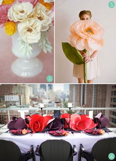 some amazing paper flowers