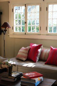 Casement window into the garden