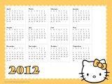 Hello Kitty Calendar 2012