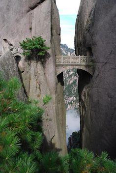 The Bridge of Immortals - Huangshan, China