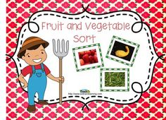 This is a great sorting activity to do with your kiddos!#soltrainlearning#sorting#TPT#teaching ideas There are 24 photographic cards to sort into fruits and vegetables, and you can have the students sort the cards into colors. We have included a teacher guide to give you ideas on how to use these cards. Included: 24 Photographic Cards Teacher's Guide Color word sorting cards 2 sorting bags Graph Questions Answer Key$