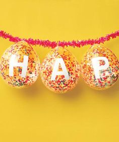 How to make a birthday banner with confetti balloons
