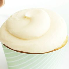 Top your Ultimate Vanilla Cupcakes with Vanilla Buttercream Frosting. It's so rich and creamy - and easily tintable.