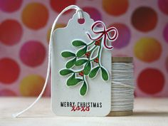 Merry Christmas Tag by Laura Bassen for Papertrey Ink (October 2014)