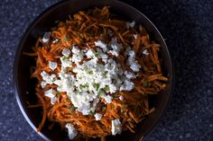 carrot salad with harissa, feta and mint by smitten, via Flickr