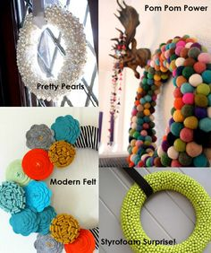 CUTE wreath ideas!! Somebody make these for me.