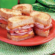 Grilled Club Sandwich Recipe - I like the mix of mayo and bbq sauce for this.