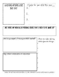 parent handout, school forms, parent communication folder, school idea, back to school