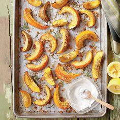 Parmesan-Rosemary Pumpkin Wedges Coastalliving.com