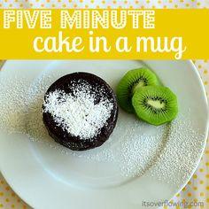 Five Minute Cake in a Mug!!! minut cake, cakes, food, fun recip, tasti recip, yummi, microwav, dessert, mugs