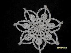 Crochet Snow Flower Ornament - free crochet pattern