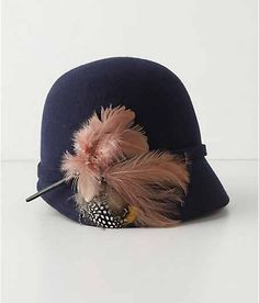 Feathers make a cloche fancier
