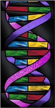 DNA Stained Glass Pattern