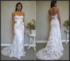 wedding lace gown
