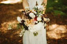 dark and berry colored bouquet