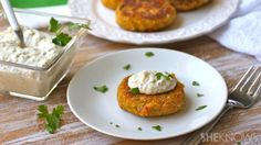 Crabless cakes with a light rémoulade #MeatlessMonday
