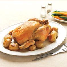Roast Chicken with Herb Stuffing #DelishCookingSchool