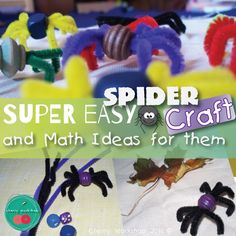 Need easy Halloween Craft? Here it is! A super easy Spider Craft.  #Halloween #spiders #kidscrafts