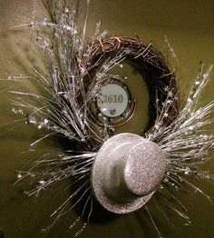 New Years Eve Party Wreath