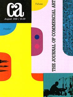 CA magazine - designed by Lloyd Pierce, 1959