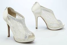 These are Davids Bridal shoes | For my bridesmaids | Pinterest