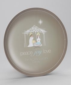 Spark and Spark Wishful Nativity Personalized Plate | Daily deals for moms, babies and kids