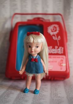 1967 Remco Heidi Doll & Case - still have mine case and all...:)
