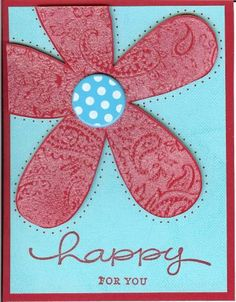 Happy Blossom using Stampin Up Big Blossom