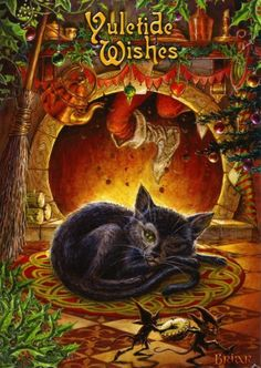 'Twas the Night Before Yule - Fireside-themed Yule / Christmas / Winter Solstice Card - Yule/Winter Solstice - Cards by Occasion / Recipient...