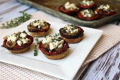 Goat Cheese Tomato Tarts | Ruled Me