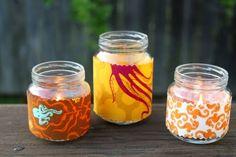 mason jar candles :)