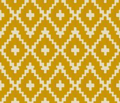 Southwest diamond & chevron fabric by Fable Design on Spoonflower