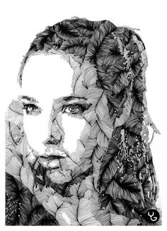 These amazing drawings created with lines and ink are the work of Russian designer and illustrator Vasilj Godzh. Enjoy and be inspired!