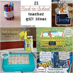 21 ideas for teacher gifts from formulamom.com #backtoschool