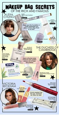 Celebrity makeup bag secrets