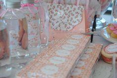 candy bar. custom. sweet. golosinas personalizadas. Pink. Baby Shower. Baptism. Bautismo ideas. http://antonelladipietro.com.ar/blog/2012/09/delicado-bautismo/