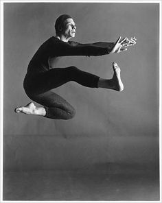 "Merce Cunningham, dancing a solo piece titled ""Changeling."" Photo: Merce Cunningham Dance Co."