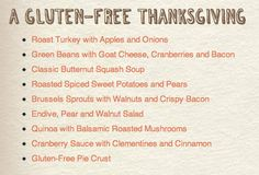 Looking for a Gluten-Free Thanksgiving menu? CLICK HERE! #recipe #holiday #Thanksgiving recip holiday