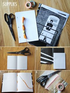DIY notebook.