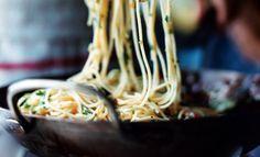 Spicy Crab Spaghettini with Preserved Lemon - it looks so simple but so amazing! spici crab, seafood pasta, pasta recipes, preserv lemon, lemon recipes