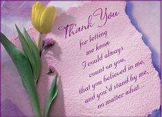 Thank you...my mother
