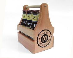 Custom Beer Carrier-Engraved with Name-Fathers Day Gift #Etsy