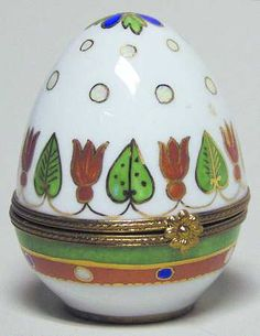 Faberge Egg Tulip, Hinged Box, Hand Painted  Replacements, Ltd.
