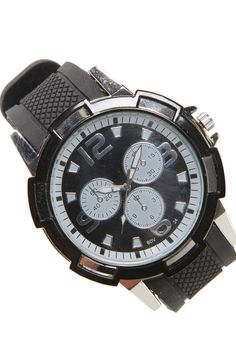 Geometric Rubber Strap Watch   #watch #malefashion #boohoo