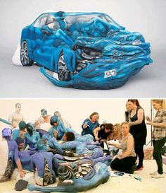 Body Painting Car Sculpture