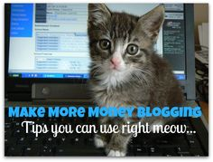 make more money blogging - 5 simple steps to help you right meow :)