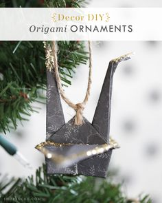 DIY Holiday Decor: Oragami ornaments to add to your Christmas tree.
