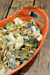 If you're in search of versatile slow cooker sides, this recipe for Slow Cooker Cheesy Ranch Cauliflower and Broccoli will go with a variety of main dishes.
