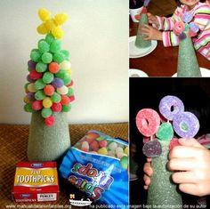 árbol de navidad con chuches: http://www.manualidadesinfantiles.org/arbol-de-navidad-chuches
